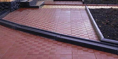 Тротуарная плитка Паркет01