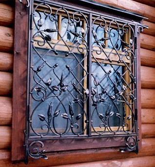 Кованные оконные решетки в Домодедово и в Домодедовским районе