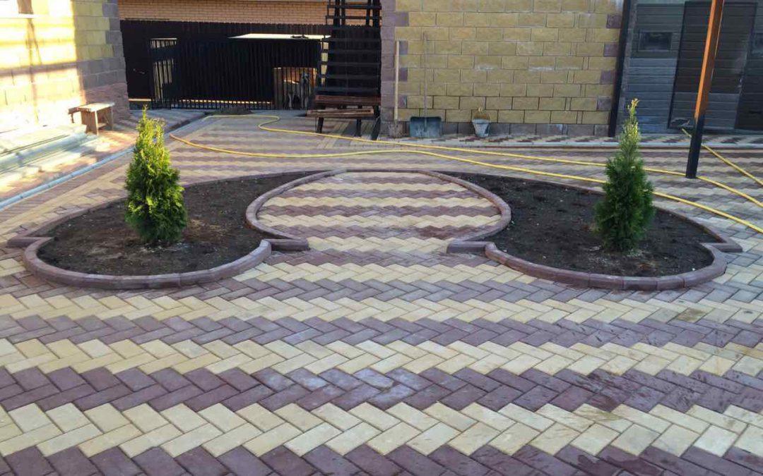 Укладка тротуарной плитки в Домодедово и в Домодедовским районе — примеры работ